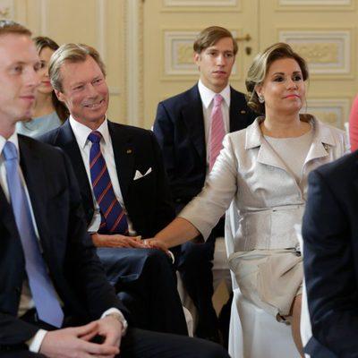 Los Grandes Duques de Luxemburgo en la boda civil de Félix de Luxemburgo y Claire Lademacher