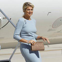La Reina Máxima de Holanda a su llegada a España