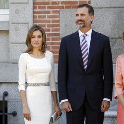 Los Príncipes de Asturias en el almuerzo a los Reyes de Holanda en Zarzuela