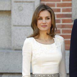 La Princesa Letizia en el almuerzo a los Reyes de Holanda en Zarzuela