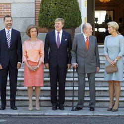 La Familia Real Española con los Reyes de Holanda en Zarzuela