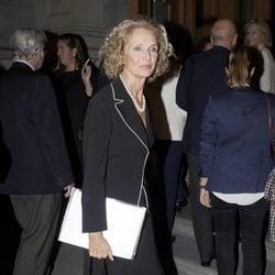 Pilar Medina Sidonia en el funeral de la Duquesa de Medinaceli