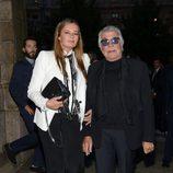 Roberto Cavalli y su mujer Eva Duringer en un cóctel de Milan Fashion Week
