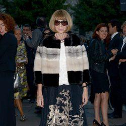 Anna Wintour en un cóctel de Milan Fashion Week