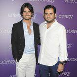 Curi Gallardo y Emiliano Suárez en una fiesta organizada por Aristocrazy en Madrid