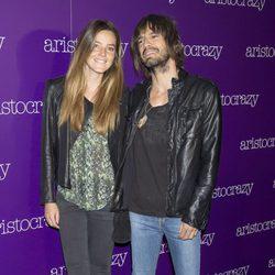 Aída Artiles con su novio en una fiesta organizada por Aristocrazy en Madrid
