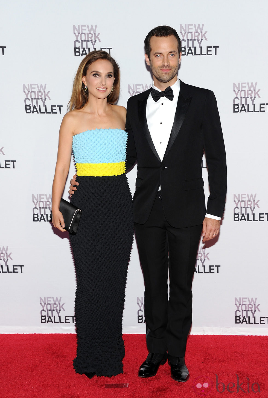 Natalie Portman y Benjamin Millepied en la Gala de Otoño del Ballet de Nueva York 2013