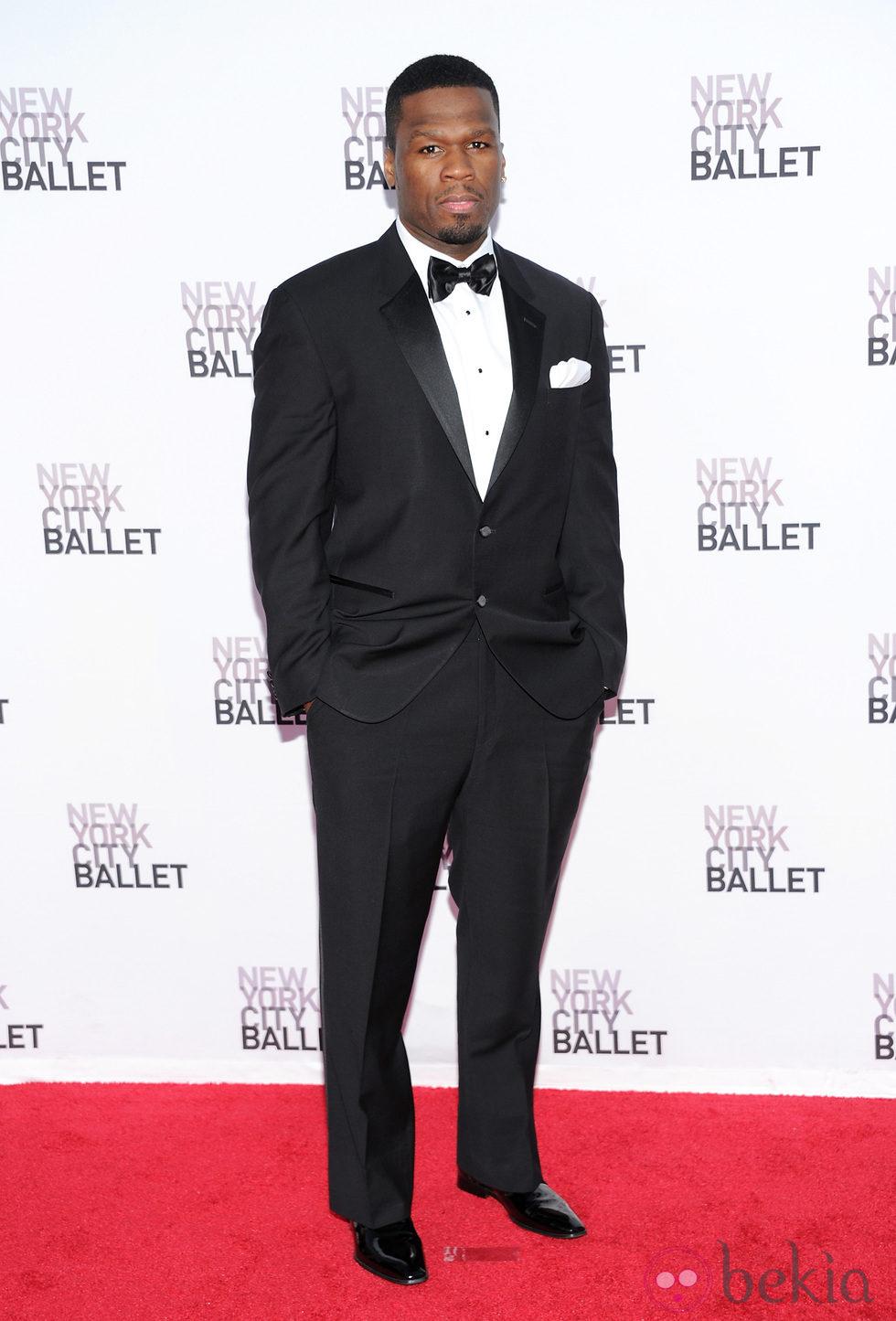 50 Cent en la Gala de Otoño del Ballet de Nueva York 2013