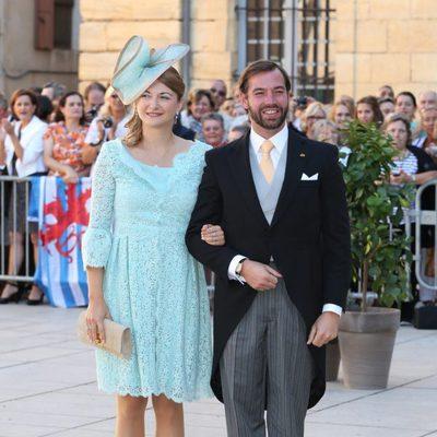 Guillermo y Stéphanie de Luxemburgo en la boda de Félix de Luxemburgo y Claire Lademacher