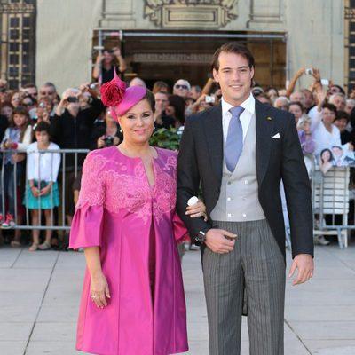 Félix de Luxemburgo con la Gran Duquesa María Teresa en su boda con Claire Lademacher