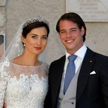 Félix de Luxemburgo y Claire Lademacher tras su boda religiosa