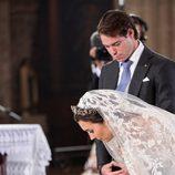 Félix de Luxemburgo y Claire Lademacher firman en su boda religiosa