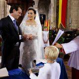Félix de Luxemburgo y Claire Lademacher intercambian las alianzas en su boda