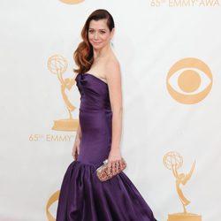 Alyson Hannigan en la alfombra roja de los Emmy 2013