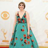 Lena Dunham en la alfombra roja de los Emmy 2013