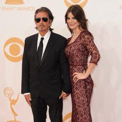 Al Pacino y Lucila Sola en la alfombra roja de los Emmy 2013