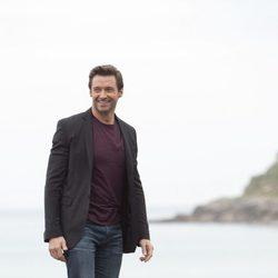 Hugh Jackman junto a la playa en el Festival de San Sebastián 2013