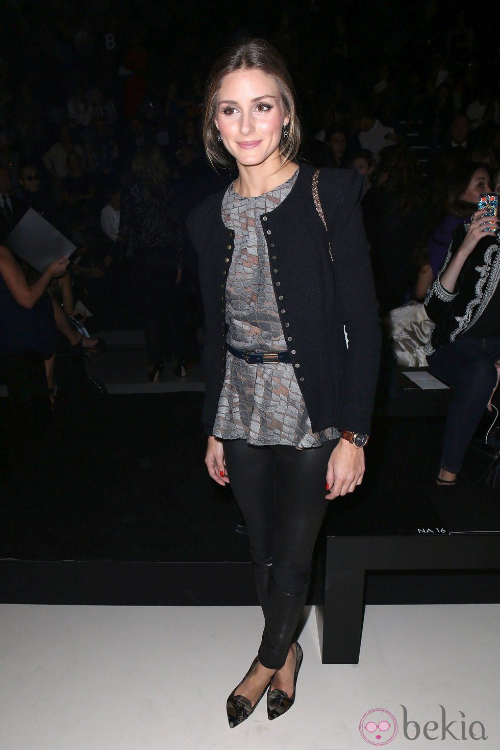 Olivia Palermo en el desfile de Elie Saab en Paris Fashion Week primavera/verano 2014