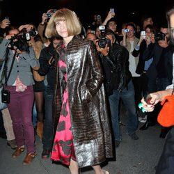 Anna Wintour en el desfile de Yves Saint Laurent en la Semana de la Moda de París primavera/verano 2014