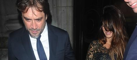 Penélope Cruz y Javier Bardem tras el estreno de 'El Consejero' en Londres