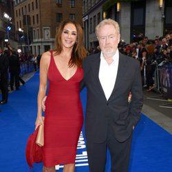 Ridley Scott y Giannina Facio en el estreno de 'El Consejero' en Londres
