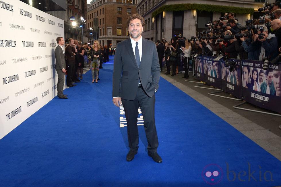 Javier Bardem en el estreno de 'El Consejero' en Londres