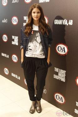 Alba Galocha en la inauguración de la tienda C&A en Madrid