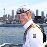 El Príncipe Harry durante una breve visita oficial a Australia