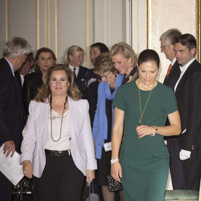 María Teresa de Luxemburgo, Victoria de Suecia, Astrid de Bélgica y Margarita de Holanda en la reunión del CPI