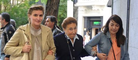 María Zurita y la Infanta Margarita en la celebración del 70 cumpleaños de Carlos Zurita