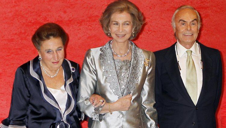 Reina Sofía y los Duques de Soria en el homenaje a Carlos Zurita