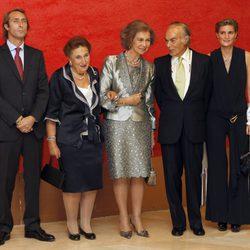 La Reina Sofía, los Duques de Soria y sus hijos en el homenaje a Carlos Zurita