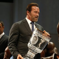 Arnold Schwarzenegger en la Arnold Classic Europe 2013 en Madrid