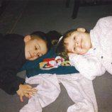 Zayn Malik con su hermana cuando era pequeño