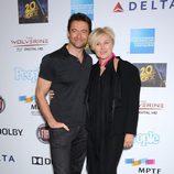 Hugh Jackman y Deborra-Lee Furness en el cumpleaños del actor en Hollywood