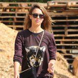 Jessica Alba en el Pumpkins Patch de Los Ángeles