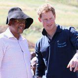 El Príncipe Harry con el Príncipe Seeiso en Lesotho