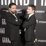 Eugenio Mira y Elijah Wood en el estreno de 'Grand Piano' en Madrid