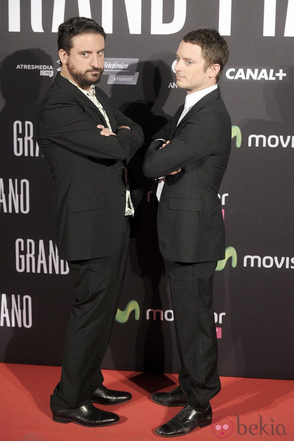Eugenio Mira y Elijah Wood en el estreno de 'Grand Piano' en Madrid