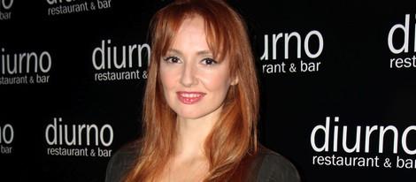 Cristina Castaño en el aniversario de un restaurante