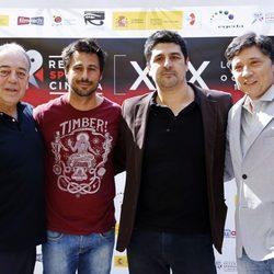 Tito Valverde, Hugo Silva, Cesc Gay y Carlos Bardem en el Festival Recent Spanish Cinema