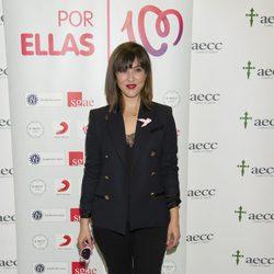 Mai Meneses en la presentación de la canción 'Color Esperanza' contra el cáncer de mama