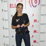 Chenoa en la presentación de la canción 'Color Esperanza' contra el cáncer de mama