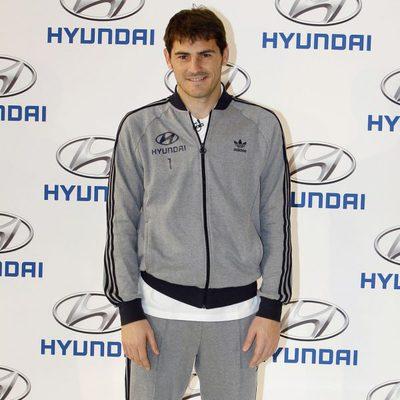 Iker Casillas en un acto promocional de la firma Hyundai