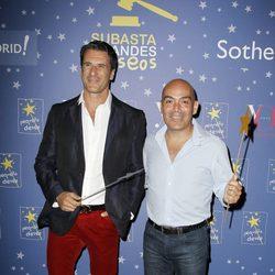 Carlos Marrero y Kike Sarasola en un acto de la Fundación Pequeño Deseo