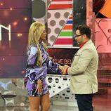 Belén Esteban y Jorge Javier Vázquez antes de la entrevista en 'Sálvame Deluxe'