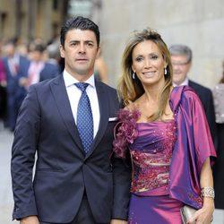 Cristina Sánchez y su marido en la boda del torero Miguel Ángel Perera y Verónica Gutiérrez