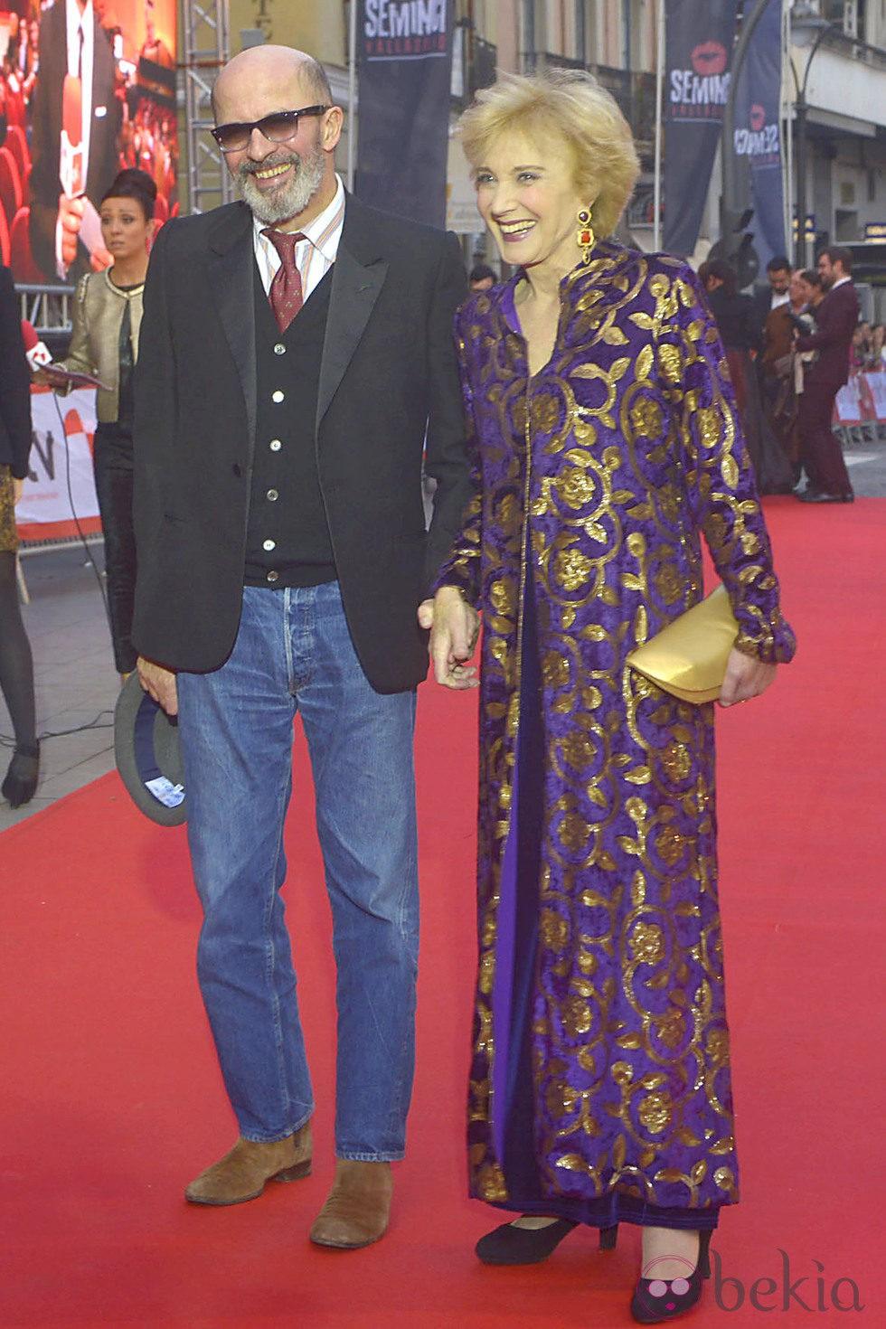 Jacques Audiard y Marisa Paredes en la inauguración de la Seminci 2013