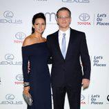 Matt Damon y Luciana Barroso en los Environmental Media Awards 2013