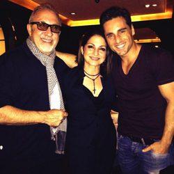 David Bustamante con Emilio y Gloria Estefan